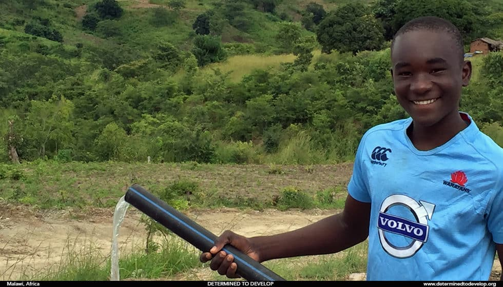 Determined to Develop Malawi Water Pump Wasambo 3